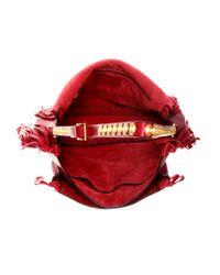 Valentino - Red Scarab Fringed Leather Shoulder Bag - Lyst