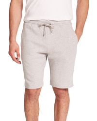 Derek Rose | Gray Devon Cotton Sweat Shorts for Men | Lyst