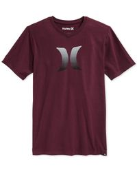 Hurley | Purple Icon Fade Premium Graphic-print Logo T-shirt for Men | Lyst