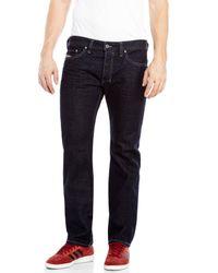 DIESEL | Black Dark Wash Safado Slim Straight Jeans for Men | Lyst