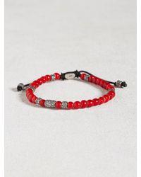 John Varvatos | Red African Glass Beaded Bracelet for Men | Lyst