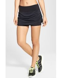 Zella | Black 'Racer Run' Running Skort | Lyst
