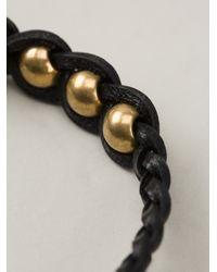 Alexander McQueen - Black Woven Skull Bracelet - Lyst