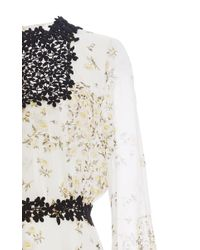 Giambattista Valli - White Long Sleeved Daisy Georgette Dress - Lyst