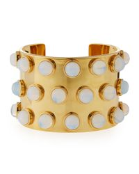 Lele Sadoughi | Metallic Sands Of Time Spotted Cuff Bracelet | Lyst