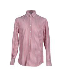 Brunello Cucinelli - Red Shirt for Men - Lyst