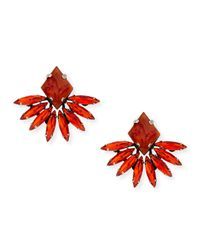 DANNIJO - Jovana Ii Red Crystal Stud Earrings - Lyst