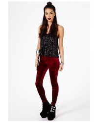 Missguided | Ayame Strappy Sequin Cami Top In Black | Lyst