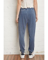 Forever 21 - Blue Faded French Terry Sweatpants - Lyst