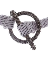 Ruby Kovo - Gray Grey Black Diamond Toggle Bracelet - Lyst