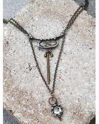 Free People | Black Saturn Rising Pendant | Lyst