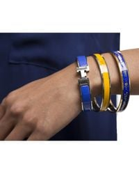 Hermès   Pre-owned Yellow Logo Enamel 65 Bracelet   Lyst