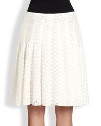 Akris Punto - Natural Pleated Skirt - Lyst