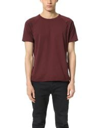 Steven Alan | Purple Short Sleeve Jersey Raglan Tee for Men | Lyst