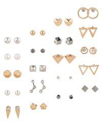 Aéropostale | Metallic Geo Stud Earring 20-pack | Lyst