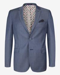 Ted Baker - Blue Wool Suit Jacket for Men - Lyst