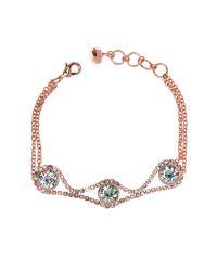 Ted Baker | Pink Stelle Crystal Chain Bracelet | Lyst