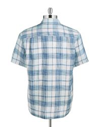 Tommy Bahama | Blue Adriatic Plaid Sportshirt for Men | Lyst