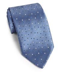 Charvet - Blue Tiny Dots Silk Tie for Men - Lyst