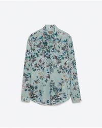 Zara | Multicolor Floral Print Shirt for Men | Lyst