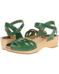 Swedish Hasbeens - Green Ornament Clog - Lyst