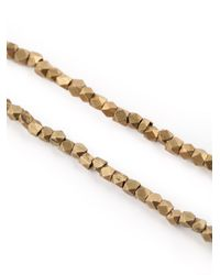 Joseph Brooks | Metallic Cube Bead Necklace for Men | Lyst