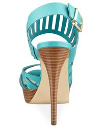 Guess - Blue Kabirra Platform Sandals - Lyst