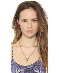 Rebecca Minkoff - Metallic V Necklace Gold - Lyst
