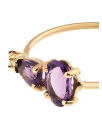 Loren Stewart | Purple Diamond, Amethyst & Yellow-Gold Ring | Lyst