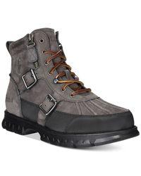 Polo Ralph Lauren | Gray Demond Duck Boots for Men | Lyst