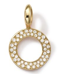 Ippolita | Metallic 18k Gold Circle Charm With Diamonds | Lyst