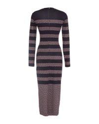 Mother Of Pearl | Blue Vera Star-stripe Knit Sheath Dress | Lyst