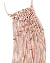 Forever 21 - Pink Macramé Fringe Necklace - Lyst