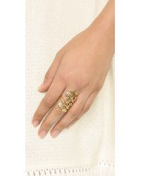 Oscar de la Renta | Metallic Ginkgo Ring - Russian Gold | Lyst