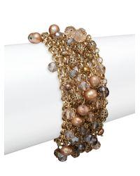 Saks Fifth Avenue | Metallic Multi-chain Beaded Bracelet | Lyst