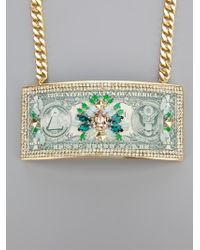 Bijoux De Famille | Green 'manhattan Bridge' Necklace | Lyst