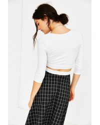 Truly Madly Deeply | White Criss-cross Top | Lyst