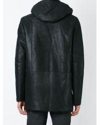 DROMe - Black Leather Parka Coat for Men - Lyst