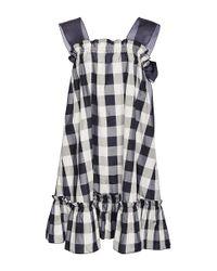 Rochas | Black Woven-silk Dress | Lyst