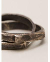 Henson - Metallic 'infinity' Ring - Lyst