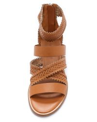 See By Chloé | Star Perforated Gladiator Sandals - Natural | Lyst