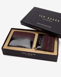 Ted Baker | Purple Gradient Leather Wallet And Card Holder Set for Men | Lyst