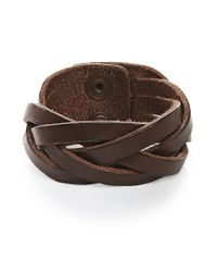 BOSS Orange - Brown Leather Bracelet In A Braided Look: 'maxwell' for Men - Lyst