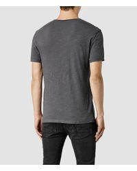 AllSaints - Gray Henning Crew T-shirt for Men - Lyst