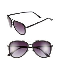 BCBGMAXAZRIA | Black 54mm Aviator Sunglasses | Lyst