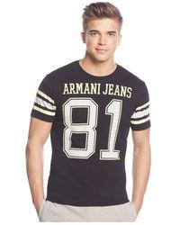 Armani Jeans | Black 81 T-shirt for Men | Lyst