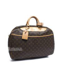 Louis Vuitton - Brown Pre-Owned Monogram Canvas Alize 24 Heures Bag - Lyst