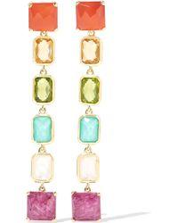 Ippolita   Metallic Rock Candy® Linear 18-karat Gold Multi-stone Earrings   Lyst