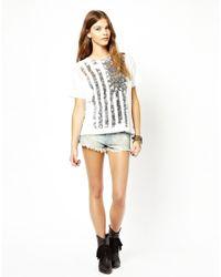 Ralph Lauren - White Flag Boyfriend Tshirt - Lyst