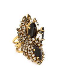 Aerin Erickson Beamon | Black Oversized Crystal Statement Ring | Lyst